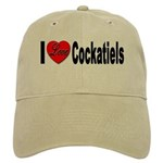 I Love Cockatiels Cap