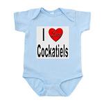 I Love Cockatiels Infant Creeper