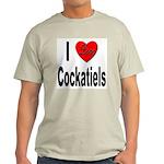 I Love Cockatiels (Front) Ash Grey T-Shirt