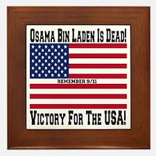 Osama bin Laden Is Dead Framed Tile