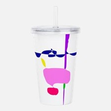 A Pink Fruit Acrylic Double-wall Tumbler