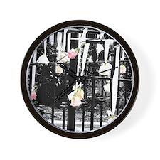 Swinging Rose Wall Clock
