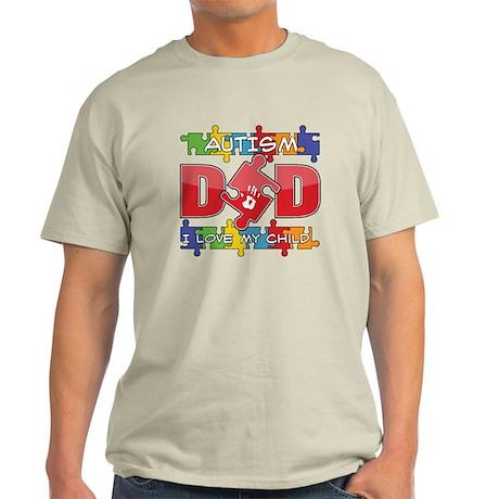 Autism Dad I Love My Child Light T-Shirt