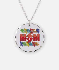 Autism Mom I Love My Child Necklace