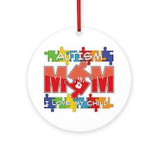 Autism Mom I Love My Child Ornament (Round)