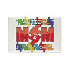 Autism Mom I Love My Child Rectangle Magnet (10 pa