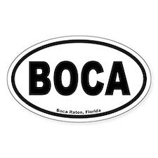 Boca Raton FL BOCA Euro Oval Decal