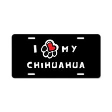 I *heart* My Chihuahua Aluminum License Plate