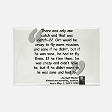 Heller Catch-22 Quote Rectangle Magnet