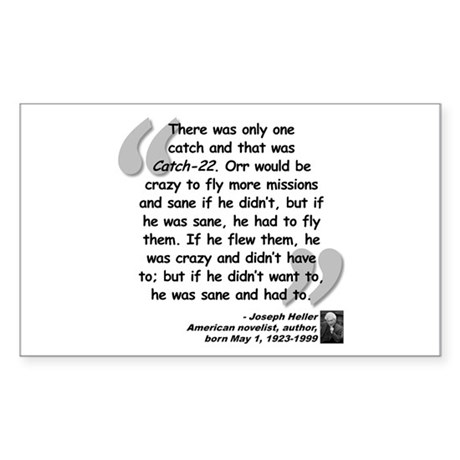 Heller Catch-22 Quote Sticker (Rectangle)