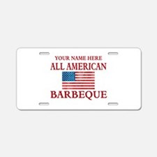 All American BBQ Aluminum License Plate