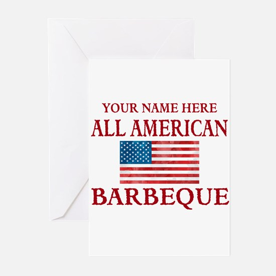 All American BBQ Greeting Cards
