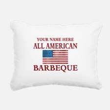 All American BBQ Rectangular Canvas Pillow