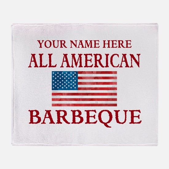 All American BBQ Throw Blanket