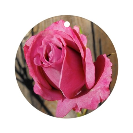 Rose Photograph Ornament (Round)