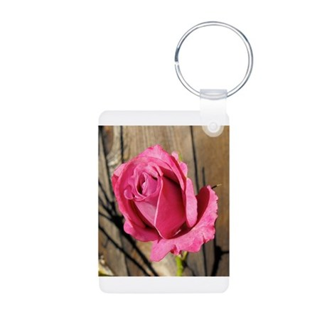 Rose Photograph Aluminum Photo Keychain