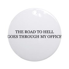 Cute Office hell Ornament (Round)