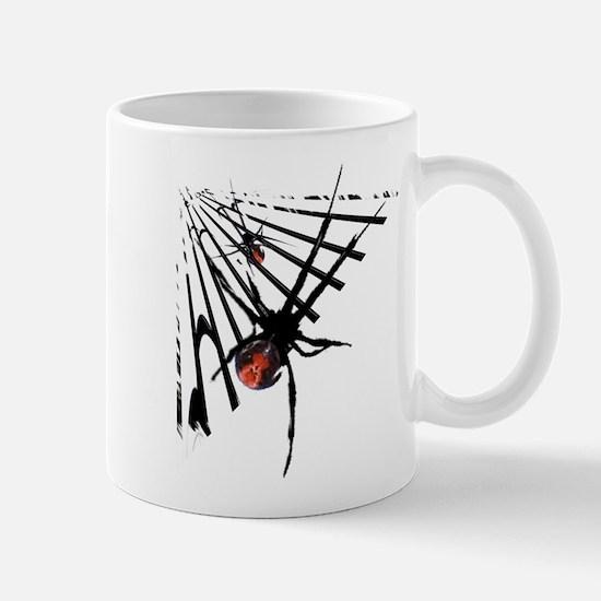 Redback Spider in Web Mug