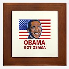 Obama Got Osama Framed Tile