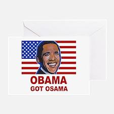 Obama Got Osama Greeting Card