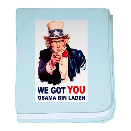 We Got You Osama Bin Laden baby blanket