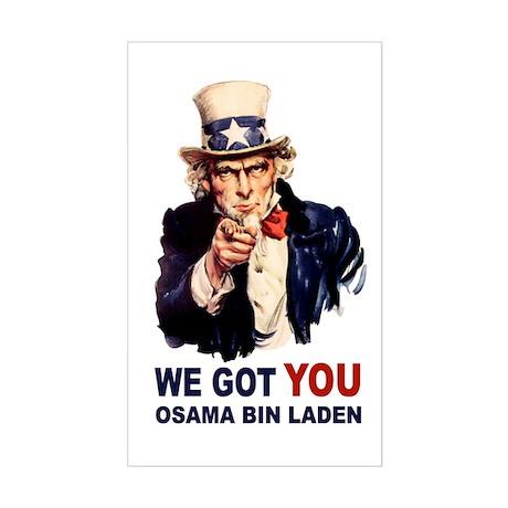 We Got You Osama Bin Laden Sticker (Rectangle)