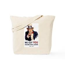 We Got You Osama Bin Laden Tote Bag