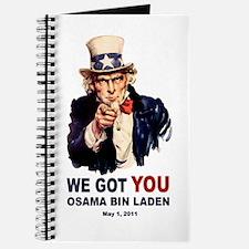We Got You Osama Bin Laden Journal