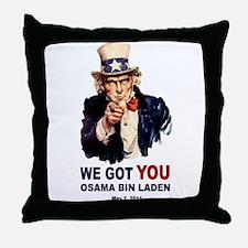 We Got You Osama Bin Laden Throw Pillow