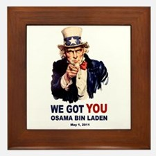 We Got You Osama Bin Laden Framed Tile