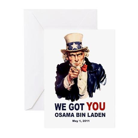 We Got You Osama Bin Laden Greeting Cards (Pk of 1