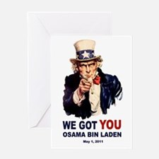 We Got You Osama Bin Laden Greeting Card