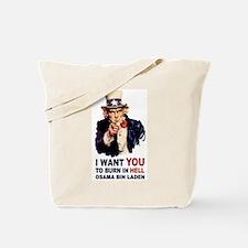 Burn in Hell Osama Bin Laden Tote Bag