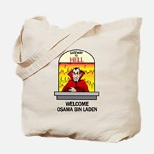 Osama Bin Laden in Hell Tote Bag