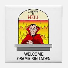 Osama Bin Laden in Hell Tile Coaster