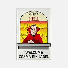 Osama Bin Laden in Hell Rectangle Magnet