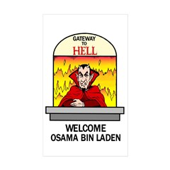 Osama Bin Laden in Hell Decal