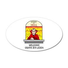 Osama Bin Laden in Hell 22x14 Oval Wall Peel