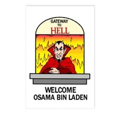 Osama Bin Laden in Hell Postcards (Package of 8)