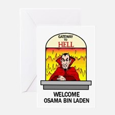 Osama Bin Laden in Hell Greeting Card