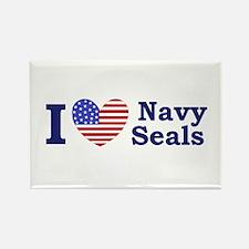I Love Navy Seals Rectangle Magnet