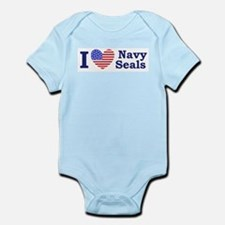 I Love Navy Seals Infant Bodysuit