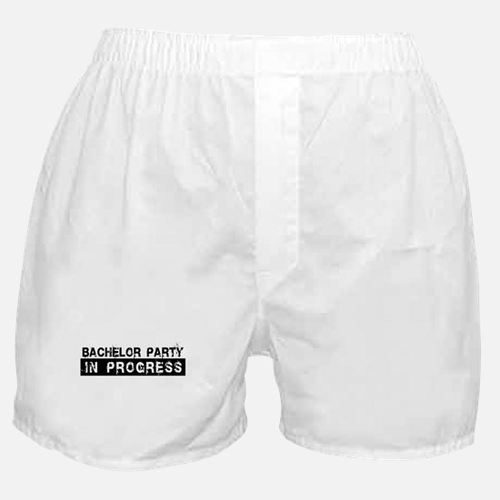 Bachelor Party In Progress Boxer Shorts