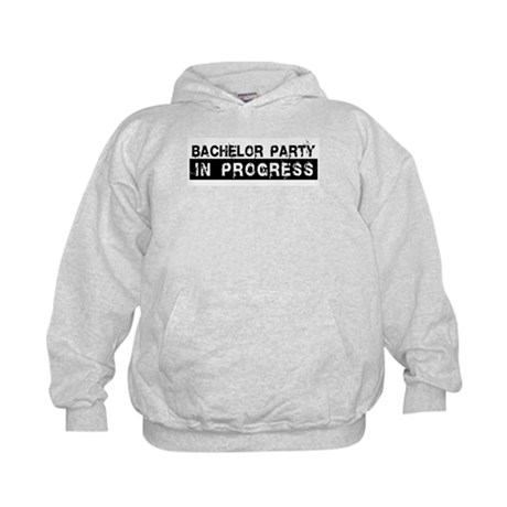 Bachelor Party In Progress Kids Hoodie