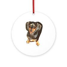Lil Lily Dachshund Dog Ornament (Round)