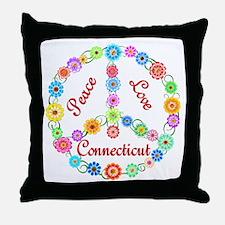 Peace Love Connecticut Throw Pillow