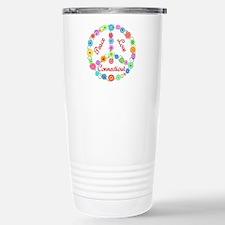 Peace Love Connecticut Travel Mug