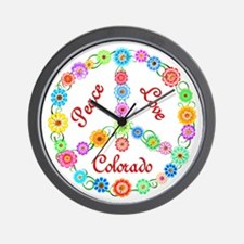 Peace Love Colorado Wall Clock