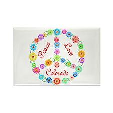 Peace Love Colorado Rectangle Magnet (10 pack)