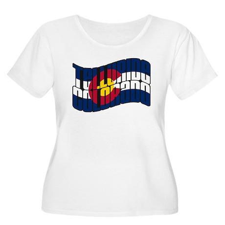Telluride CO Flag Women's Plus Size Scoop Neck T-S